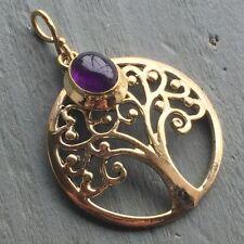 Brass Amethyst Fine Necklaces & Pendants