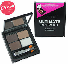 Technic ULTIMATE EYEBROW KIT SET BROW MAKEUP 3 Powders Wax Tweezers Angled Brush