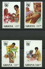 UN Immunization Campaign mnh set of 4 stamps 1988 Ghana #1051-4 polio