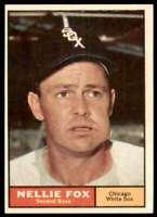 1961 Topps Set Break Nm Nellie Fox Chicago White Sox #30