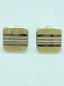 Pair of Vintage Sterling Silver & Gold  Cufflinks halmarked 925