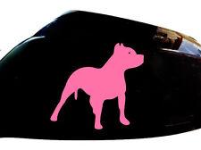 Pitbull Perro Auto Adhesivo ala Espejo Estilo calcomanías (juego De 2), Rosa