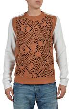 Just Cavalli Men's Multicolor Long Sleeve Crewneck Sweater US M IT 50