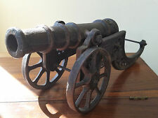 Vintage Die-Cast Heavy Iron Replica Toy Model Canon - 18
