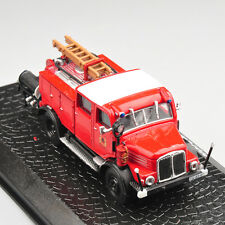 Atlas Alloy Diecast Model Car 1/72 Scale Horch H3A Vehicles Fire Truck Toys