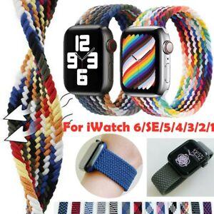 Geflochtenes Solo Loop Armband für Apple Watch iWatch Strap Series 6 5 4 3 2 1