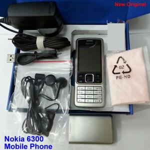 100% Genuine New Nokia Original 6300 GSM Camera 2MP Unlocked Mobile Phone Silver