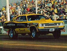 VINTAGE AKRON ARLEN 1972 PLYMOUTH DUSTER COLOR PHOTO PRINT 8.5 X 11