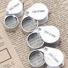 4 Sizes 20X Eye Loupe Magnifier Jeweler Diamond Triplet Magnifying Glass +Box