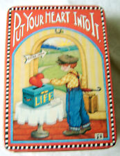 Mary Engelbreit Tin / Put Your Heart Into it / Midwest Importers of Cannon Falls
