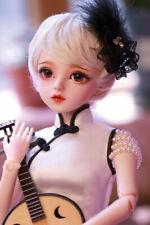1/3 BJD Doll Girl + Changeable Eye + Face Makeup + Clothes + Instrument FULL SET