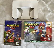 1997 MARIO KART Nintendo 64 N64 Box Only w Insert & Manual Instruction Booklet