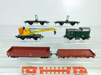 BP774-1# 5x Fleischmann H0/DC Güterwagen DB: 5019 + 5301 (?) etc, sehr gut
