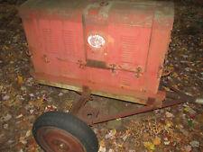 Large Antique Ac Generator 4 Cylinder Flat Head Hercules Engine On Trailer