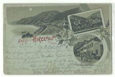 Hirzenach am Rhein Hotel zum Anker Mondschein-Litho 1900