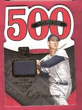 TED WILLIAMS GAME USED JERSEY CARD #d49 2016 PANTHEON 500 HR CLUB BOSTON RED SOX