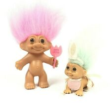Russ Easter Troll Dolls Set of 2 pre-owned B00187