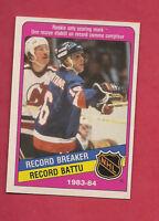 1984 85 OPC # 392 ISLANDERS PAT LAFONTAINE RECORD BREAKER ROOKIE NRMT++ CARD