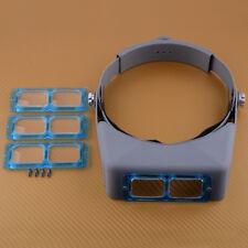 Head Band Vergrößerungsglas Optische Glaslinse Schweißen Uhrmacher Stirnbandlupe