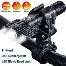 Recargable USB LED Bicicleta Lámpara MTB Delantero Ciclismo Luz 6 modos Faro