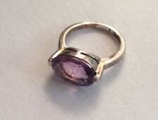 Lab created Alexandrite ring purple beautiful stone size 6 Sterling silver