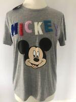 BNWT Disney Mickey Mouse Grey t-shirt Top , Various Sizes Primark
