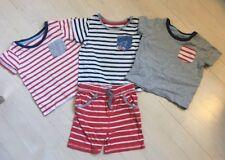 Baby Boden Boys Summer T-Shirts And Shorts Size 6-12 Months Orange Stripe