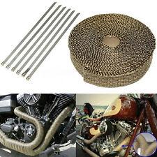 Titanium Exhaust Pipe Heat Wrap Tape Strips Auto Car Motorcycle Kit 14.8feet