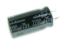 4pcs Nichicon VR 2200uf 25v Radial Electrolytic Aluminum Capacitor 13X25mm