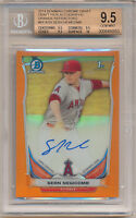 SEAN NEWCOMB 2014 BOWMAN CHROME AUTOGRAPH #/25 BGS 9.5 10 ORANGE REFRACTOR AUTO