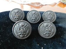 5 Vintage Military Buttons Waterbury, Scovill Mfg.