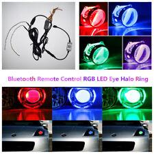 Car Demon Eyes Headlight Halo Ring Bluetooth Wireless Remote Control RGB LED Kit