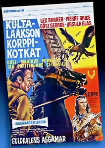 WINNETOU APANATASCHI FILMPLAKAT FINNLAND 1966 PIERRE BRICE LEX BARKER KARL MAY *