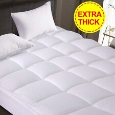 Newest Extra Thick Fitted Pillow Top Down Feather Mattress Topper Pads-King size