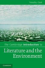 The Cambridge Introduction to Literature and the Environment (Paperback or Softb