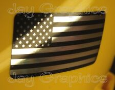 Pair - CHROME American Flag Hard Hat Stickers Motorcycle Helmet Decals USA Flags