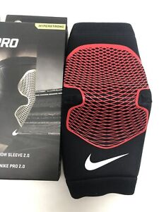 New Nike Pro RED Elbow Sleeve MEDIUM Support Training Workout Compression #K