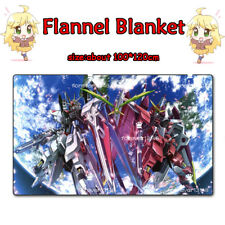Hot Anime GUNDAM Warm Soft Flannel Plush Travel Blanket Otaku Gift 1*1.2m#6-622