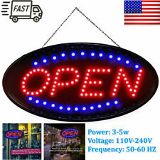 Ultra Bright Led Neon Light Animated Motion W/On/Off Open Business Sign Us