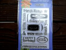 NEW HERO Arts Clear Photopolymer Stamps  CL047 Messages Friends