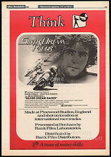 SILVER DREAM RACER__Original 1980 Trade AD / poster__DAVID ESSEX__MotoGP racing
