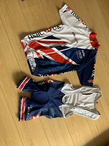 Kalas Kids GB Cycling Kit Jersey Top Bib Shorts 146cm Age 8-11