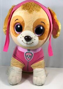 "Ty Paw Patrol Skye Rescue Pup Large Plush Pink Puppy Dog Stuffed Animal Toy 15"""