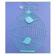 Home & Garden Metal Wall Art Wall Hanging Birdcage With 2 Birds In-Outdoor