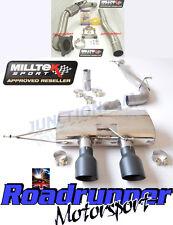 """MILLTEK GOLF MK6 R Corsa Di Scarico 3"""" Turbo Back & DE CAT non RES non rinunciando Nero"""