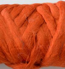 100 % Leinen Kammzug Kürbis, Leinen für filzen und spinnen 100 g farbig Kürbis