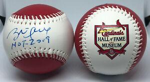 Brett Hull Signed Baseball St. Louis Blues Cardinals Hall of Fame Museum