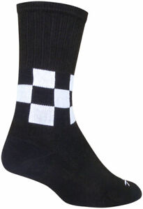 SockGuy SGX Speedway Socks - 6 inch, Black/White, Large/X-Large