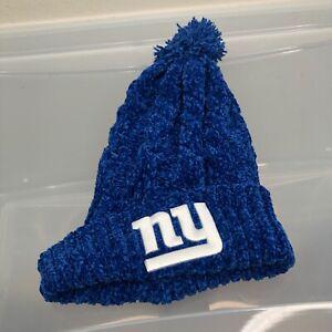 New York Giants 47 Brand Women's Winter Hat. New NWOT Blue Beanie Cap. NFL