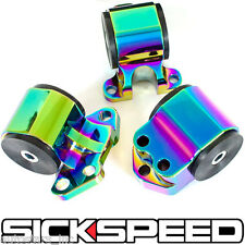 SICKSPEED 92-95 MOTOR MOUNTS KIT D16 B16 B18 EG B-SERIES ENGINE NEO CHROME